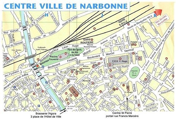 Info • plan narbonne ville